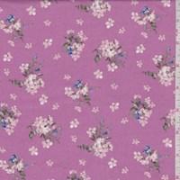 Creamy Pink/Blush Mini Floral Rayon Challis