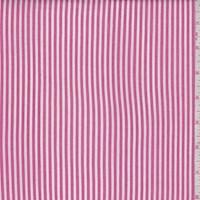 White/Dark Pink Stripe Rayon Challis
