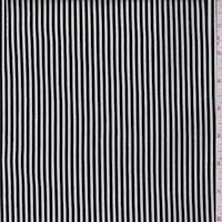 White/Black Stripe Rayon Challis