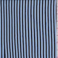 Dark Navy/Sky Double Stripe Rayon Challis