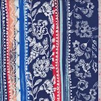 Violet Blue Wallpaper Deco Stripe Rayon Challis