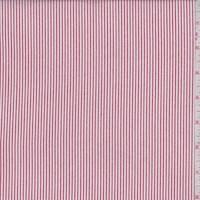 White/Brick Red Pinstripe Rayon Challis