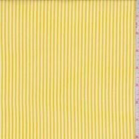 White/Yellow Stripe Rayon Challis