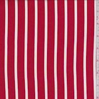 Red/White Chalk Stripe Rayon Challis