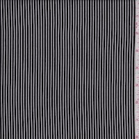 Black/White Pinstripe Rayon Challis