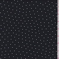 Dark Navy Pin Dot Rayon Jersey Knit