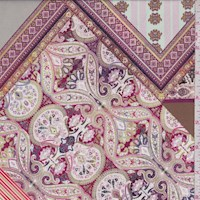 Mocha/Berry/Seafoam Patchwork Nylon Knit