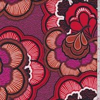 Orange/Pink/Red Scallop Floral Lawn