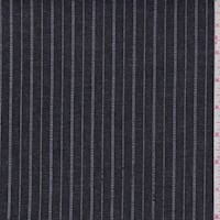 Dark Navy Pinstripe Stretch Denim