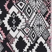 Black/White/Pink Southwest Diamond Challis