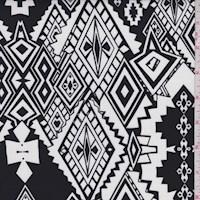 Black/White Southwest Diamond Challis