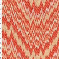 *1 YD PC--Orange/Multi Contemporary Jacquard Home Decorating Fabric