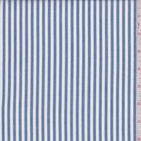 *6 5/8 YD PC--Denim Blue/White Stripe Shirting