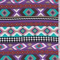 *1 7/8 YD PC--Lilac Multi Southwest Stripe Challis