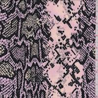 Melon/Orchid/Black Snakeskin Double Brushed Jersey Knit