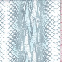 White/Teal/Ice Faded Snakeskin Double Brushed Jersey Knit