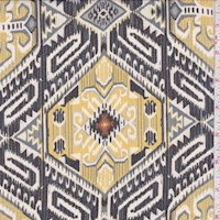 Yellow/Black/Grey Hexagon Tile Chiffon