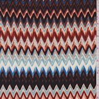 Black/Rust Orange/Royal Zig Zag ITY Jersey Knit