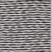 Black/Cream Wave Stripe Sweater Knit