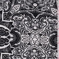 Black/White Stylized Nylon Knit