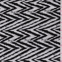 White/Black Flamestitch Jacquard Double Knit