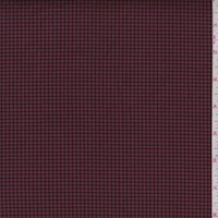 Maroon/Black Mini Check Woven Cotton