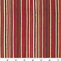 *7 YD PC--Red/Multi Textured Stripe Woven Home Decorating Fabric