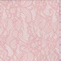 *1 1/2 YD PC--Pink Coral Floral Lace