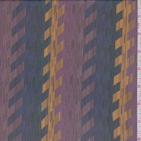 *5 1/4 YD PC--Plum/Marigold/Spruce Abstract Herringbone Silk Chiffon