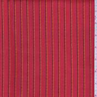 *7/8 YD PC--Fire Red Stripe Suiting