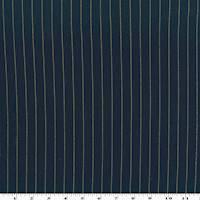 *2 YD PC--Navy/Beige Stripe Stretch Twill