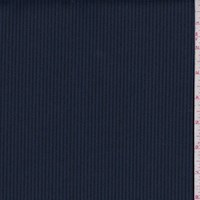 *1 1/8 YD PC--Black/Blue Twill Stripe Rayon Blend Suiting