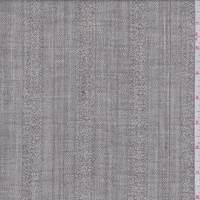 *1 YD PC--Smoke Stripe Wool Blend Suiting