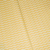 Straw Hay Yellow/Off-White Chevron Wave Decorating Fabric