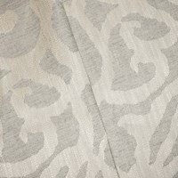 Gray/Pearl Beige Baroque Damask Home Decorating Fabric