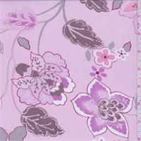 *7 YD PC--Creamy Pink Floral Georgette