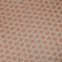 Curry Brown/Beige Hexagon Jacquard Decorating Fabric