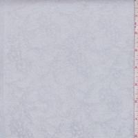 Pearl Grey Lace Print Corduroy