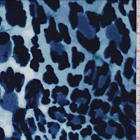 Violet Blue Cheetah Print Double Brushed Jersey Knit