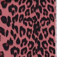 Pink Clay Ikat Cheetah Double Brushed Jersey Knit