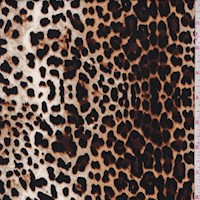 Golden Beige Leopard Double Brushed Jersey Knit