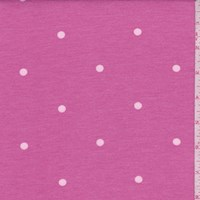 Deep Pink Dot Brushed French Terry Knit