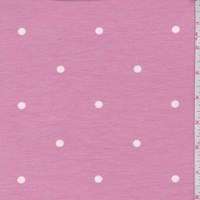 Pink Dot Brushed French Terry Knit