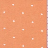 Orange Dot Brushed French Terry Knit