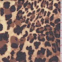 Brown/Yellow Cheetah Brushed French Terry Knit