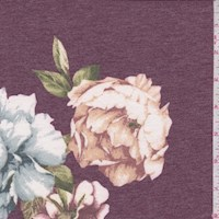 Heather Plum Floral Brushed French Terry Knit