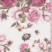 Pale Pink Rose Brushed French Terry Knit