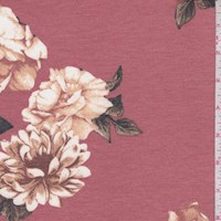 Heather Copper Floral Brushed French Terry Knit
