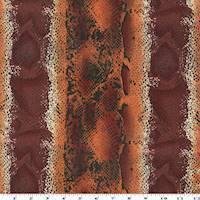 *1 YD PC--Red/Orange Snake Skin Print Chiffon
