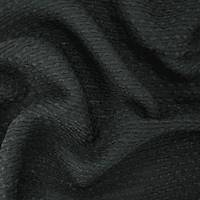 *3 3/4 YD PC--True Black Loosely Woven Textured Wool Blend